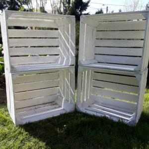 Skrzynka Biała Drewniana Skrzynki bielone Jedynka