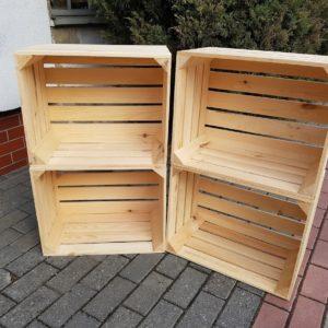 Skrzynka drewniana nowa jedynka LICOWANA 50x40x30 cm
