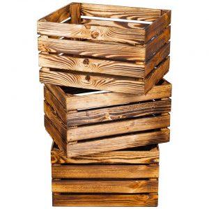 Skrzynka drewniana NOWA opalana jedynka 50x40x30 cm