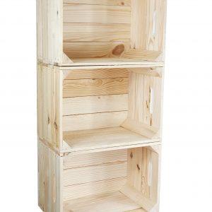Skrzynka drewniana nowa jedynka MAŁA 39x28x25,5cm z uchwytem