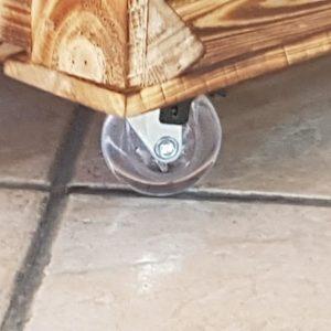 Kółko meblowe rolka meblowa bezbarwne FI50 z hamulcem