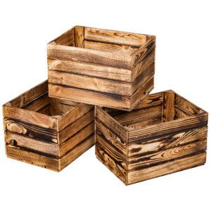 Skrzynka drewniana nowa jedynka MAŁA opalana 41×29,5x25cm