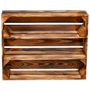 Skrzynka opalana z dwoma półkami