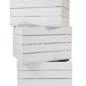 Skrzynka drewniana nowa jedynka MAŁA biała 41×29,5x25cm
