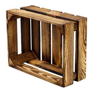 Skrzynka drewniana opalana 39 x 29 x 16 cm