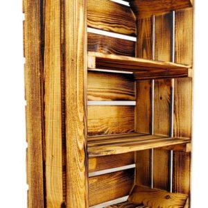 Skrzynka opalana z dwoma półkami 60x40x20 cm