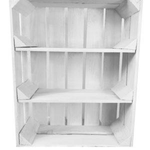 Skrzynka biała z dwoma półkami