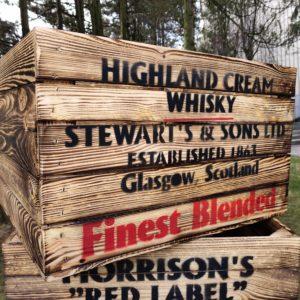 Skrzynka Old Whisky opalana