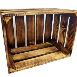 Skrzynka drewniana opalana 39 x 29 x 24 cm