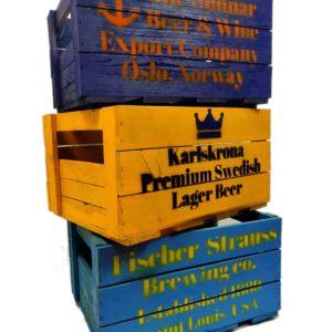 Skrzynka drewniana po piwie Skandynawia LOFT