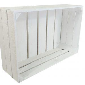 """Skrzynka drewniana nowa biała """"uniwersalka"""" 60x40x20 cm"""