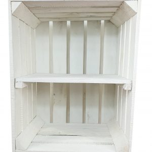 Skrzynka biała z krótką półką 50 x 40 x 30