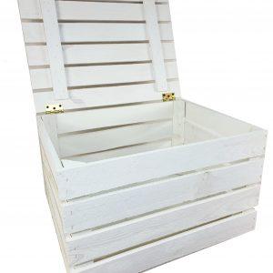 Skrzynka kuferek biała z deklem 50 x 40 x 30
