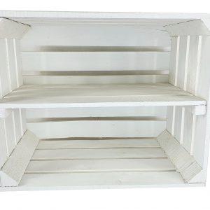 Skrzynka biała z długą półką 50 x 40 x 30