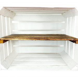 Skrzynka biała z długą półką opalaną 50 x 40 x 30