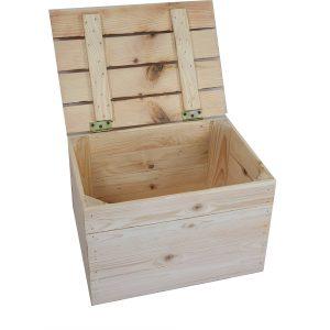 Kuferek drewniany nowy 39x28x25,5 cm