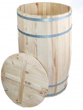 Beczka drewniana duża 102/56 cm z deklem