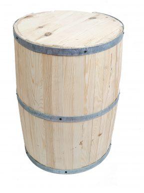 """Beczka drewniana  mała 58/42 cm """"Barek"""" otwarta"""