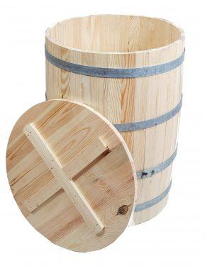 Beczka drewniana  mała 58/42 cm z deklem