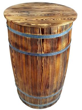 Beczka drewniana duża opalana 102/56 cm z deklem