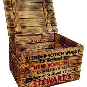 Skrzynka Old Whisky opalana Kuferek