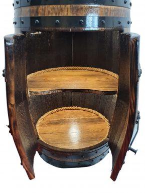 Barek Premium szafka z dębowej beczki po winie LED ŚWIATŁO