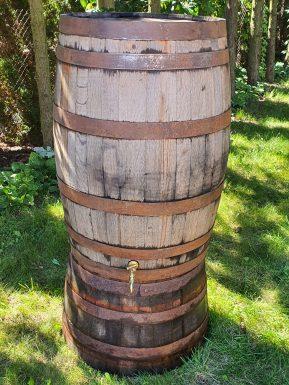 Zestaw na deszczówkę 200 litrów: Beczka+ podstawka + zamontowany kranik