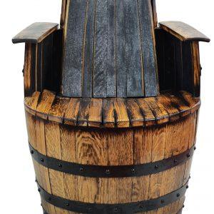 Krzesło z dębowej beczki po whisky PREMIUM kolor jasny