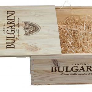 Skrzynka po winie na 3 wina Bulgarini