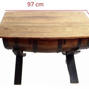Stolik z dębowej beczki po whisky PREMIUM